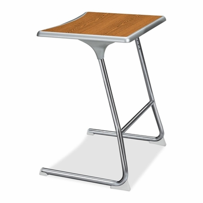 Student Desk - Medium Oak / Chrome 2 Count- HONCL40HCBEMMY