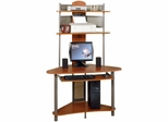 StudioEdge A-Tower Computer Desk with Hutch Pewter / Cherry - Sauder Furniture - 60133