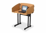 Study Carrel - Teak w/ Black Frame - BLT89822