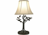 Stylecraft Aged Bronze Iron Bird and Leaf Table Lamp