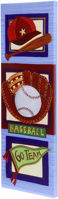 Stylecraft Baseball Hand Embellished Art on Canvas