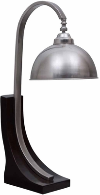 Stylecraft Espresso Based and Brushed Steel Desk Lamp