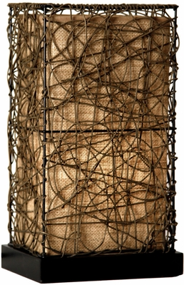 Stylecraft Natural Rattan Accent Lamp Iron