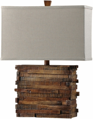 Stylecraft Restoration Wood Look Table Lamp