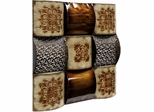 Stylecraft Sculptured Iron Squares Metal Wall Art