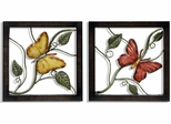 Stylecraft Set of 2 Metal Butterfly Wall Plaque