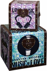 Stylecraft Set of 2 Trunks, Music Theme