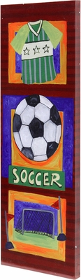 Stylecraft Soccer Hand Embellished Art on Canvas
