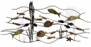 Stylecraft Swimming Fish Metal Wall Decor
