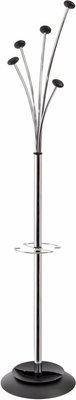 Stylish ALBA Chrome Festival Floor Coat Stand