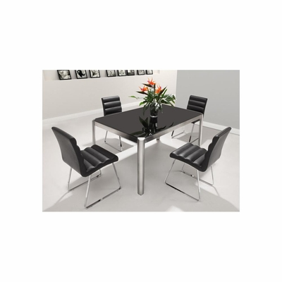 Stylus 5pc Black Dining Table Set - Zuo