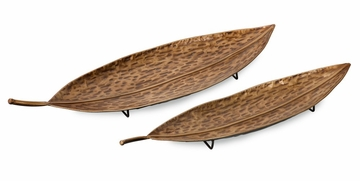 Sumai Leaves (Set of 2) - IMAX - 87078-2