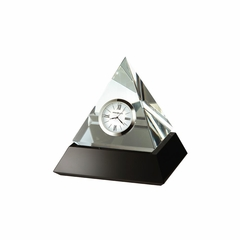 Summit Crystal Pyramid Table Clock - Howard Miller