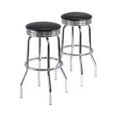 Summit Swivel Bar Stools - Set of 2 - Winsome Trading - 93028