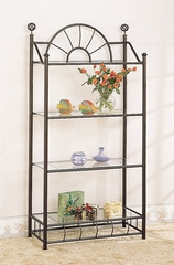 Sunburst Display Unit in Sandy Black - Coaster
