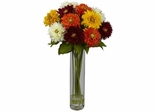 Sunflower with Cylinder Silk Flower Arrangement - Nearly Natural - 1246-AS
