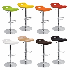 Surf Barstool Red - LumiSource - BS-SURF-WD-R