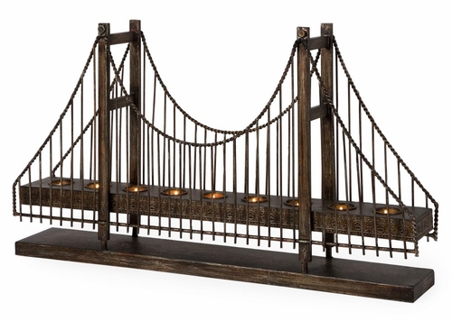 Suspension Bridge Candleholder - IMAX - 12366