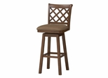 "Sussex Wood Swivel Stool 30"" - Linon Furniture - 01933DKOAK-01-KD-U"