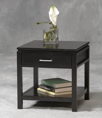 Sutton End Table in Black - Linon Furniture - 84028BLK-01-KD-U