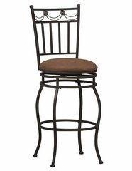 "Swag Bar Stool 30"" - Linon Furniture - 02761MTL-01-KD-U"