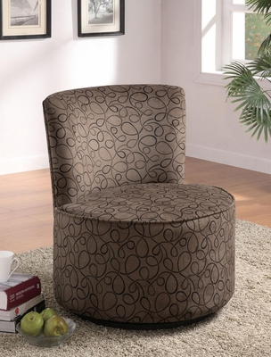 Swirly Print Round Swivel Chair - 902003