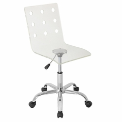 Swiss Acrylic Office Chair Clear - LumiSource - OFC-TW-SWISS-CL