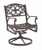 Swivel Arm Chair in Rust Brown - Home Styles - 5555-53