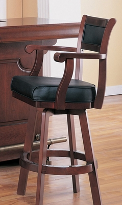 Swivel Bar Chair in Cherry - Coaster