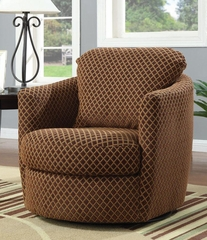 Swivel Diamond Pattern Upholstered Chair - 900405