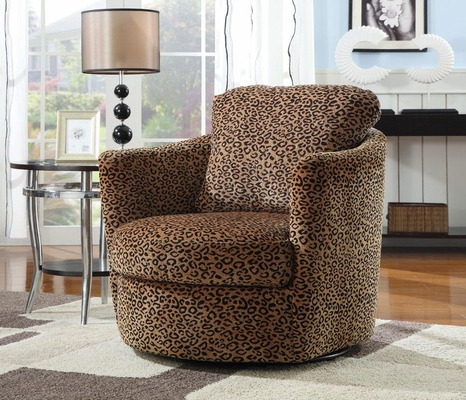 Swivel Leopard Upholstered Chair - 900195