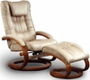 Swivel Mocha Microfiber Recliner and Ottoman - Mac Motion Chairs - 82-639-08-103