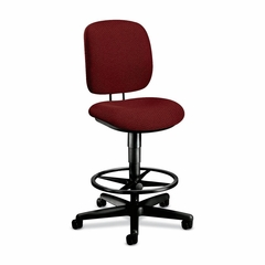 Swivel Pneumatic Task Stool - Burgundy - HON5905AB62T