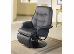 Swivel Recliner in Black Leatherette - Coaster