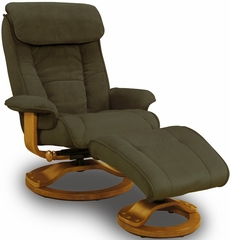 Swivel Safe Recliner with Ottoman - Mac Motion Chairs - 818-686-21-102