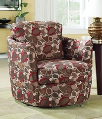 Swivel Upholstered Chair with Oblong Pattern - 900406