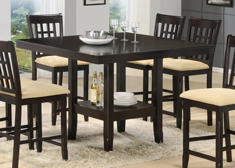 Tabacon Counter Height Gathering Table with Wine Storage Rack - Hillsdale Furniture - 4155DTBG