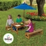 Table and Benches with Blue Umbrella - KidKraft Furniture - 00043
