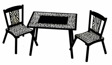 Table and Chair Set - Wild Side - LOD71002