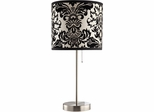 Table Lamp with Black and White Shade - Set of 2 - 901277