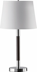 Table Lamp with Chrome & Espresso Finished Base - 2PC Set - 901488