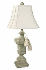 Table Lamp with Linen Shade and Tassles - Style Craft - PT8690