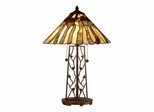 Table Lamp With Rectangular Base - Dale Tiffany