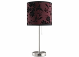 Table Lamp with Red and Black Patterned Shade - Set of 2 - 901276