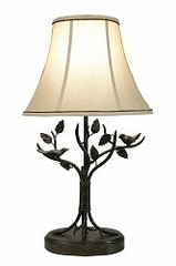 Table Lamp with Silk Shade - Style Craft - BP8168