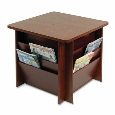 Table w/Literature Rack - Mahogany - BDY929816