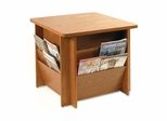 Table w/Literature Rack - Medium Oak - BDY929811