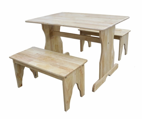 Table with Two Benches in Natural - JT01-3027