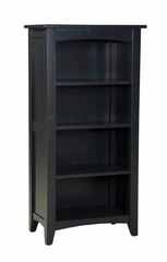 Tall Bookcase in Black - Shaker Cottage - Alaterre - ASCA08BL