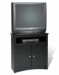 Tall Corner TV Cabinet in Black - Sonoma Collection - Prepac Furniture - BTV-3232